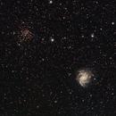 Fireworks Galaxy (NGC 6946) and Ghost Bush Cluster (NGC 6939),                                Richard Vanderbeek
