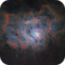 M8 Lagoon Nebula in Ha, O3 and RGB,                                equinoxx