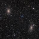 NGC185 and NGC147 Andromeda Galaxy Satellites,                                Michael Feigenbaum