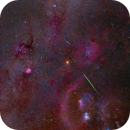 Spiral Orionid Meteors, the Winter Milky Way with the Orion Galactic Arm, and a Comet,                                Roger Clark