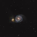 M51 Whirlpool Galaxy,                                Monkeybird747