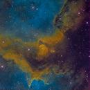 Soul Nebula Closeup (IC-1848) in SHO,                                Miles Zhou
