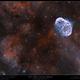 NGC 6888 (Crescent Nebula) & Soap Bubble (PN G75.5+1.7),                                Mike Oates