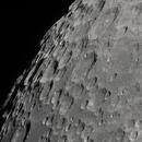 Cratères du pôle sud lunaire avec Moretus, 22 avril 2021,                                Noël Donnard
