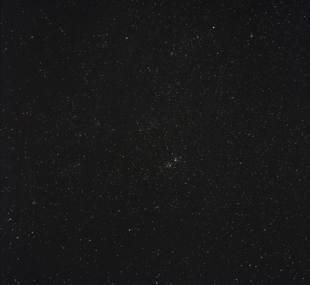 Double Cluster in Perseus - 5th with Tracker+DSLR,                                Sigga