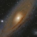 M31 Andromeda Galaxy LRGB,                                Jochem Maas