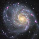 M 101 - Feuerradgalaxie Vol.III  - LRGBHa,                                Lars Stephan