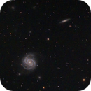M100 and NGC4312,                                Shannon Calvert