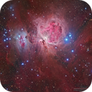 SH2-279 Running Man Nebula, M42 Great Orion Nebula and NGC1999 13th Pearl Nebula in (R+HA)GB,                                Kayron Mercieca