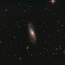 Galaxie Messier (M) 106 und Umgebung in den Jagdhunden (Canes Venatici),                                astrobrandy