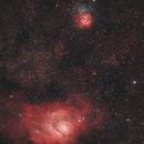 Lagoon nebula & Trifide nebula (M8/M20),                                Julien
