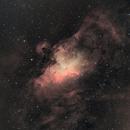 M16 nébuleuse de l'aigle en Ha OIII,                                pam-pg