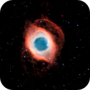 Helix Nebula, NGC7293, In Narrowband,                                mlewis
