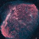 Crescent Nebula in HOO,                                Rathi Banerjee