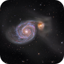 M51 galaxy color picture, closeup,                                Niels V. Christensen