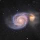 Whirlpool Galaxy M51 in Canes Venatici  - Zoom in,                                Arnaud Peel