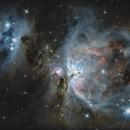 The Orion Nebula (M42) and Running Man Nebula,                                Antoine Grelin