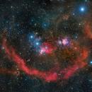 M42  9-Panel Mosaic - Deep Sky West Remote Observatory,                                Deep Sky West (Ll...