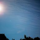 Moon, Hyades and Pleidas through the clouds,                                bilgebay