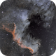 """Playing"" with North America - NGC 7000,                                Uwe Deutermann"