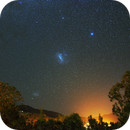 Magellanic Clouds from Rio Hurtado, Chile,                                Cluster One Observatory