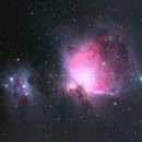 Orion and Running Man Nebula,                                starfield