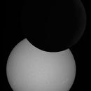 Annular Solar Eclipse of June 10th, 2021 at 12h04 Paris Time - Composite image,                                Jérémie