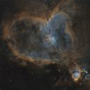 The Heart Nebula in SHO,                                Dave Boddington