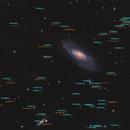 Astronomical distances to galaxies behind M106 ,                                alpheratzlaboratory