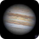 20200724 - Animation: Ganymede and its shadow transit Jupiter,                                astrolord