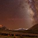 Corona Australis, Sagittarius, Buddhist Chortens and Great Himalaya Range (Crop),                                David J Roberts
