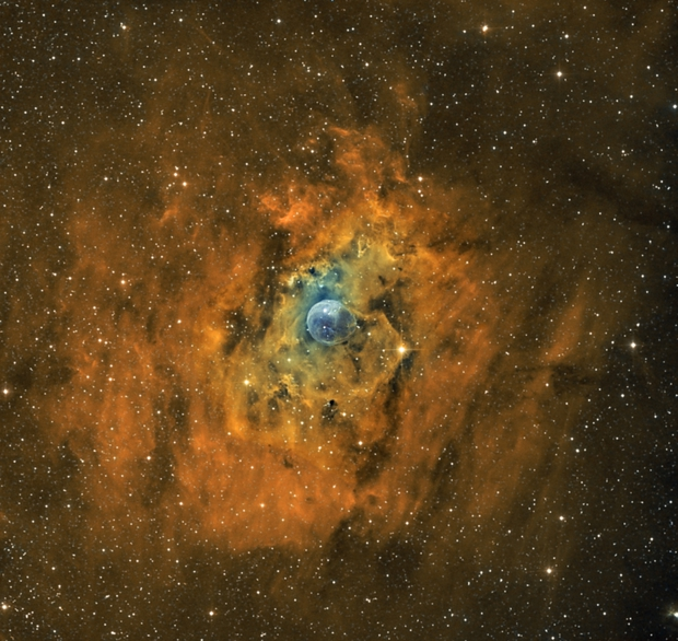 NGC 7635 Bubble Nebula Bicolor,                                Frank Iwaszkiewicz