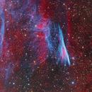 NGC 2736 - The Pencil Nebula, Supernova Remnant in Vela,                                flyingairedale