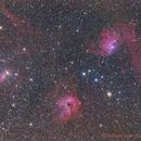 Campo de M 36, NGC 1931, IC 405, IC 410 y más,                                comiqueso