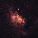 Milky way around Lagoon and Trifid Nebulae,                                PINCELLA Claudio