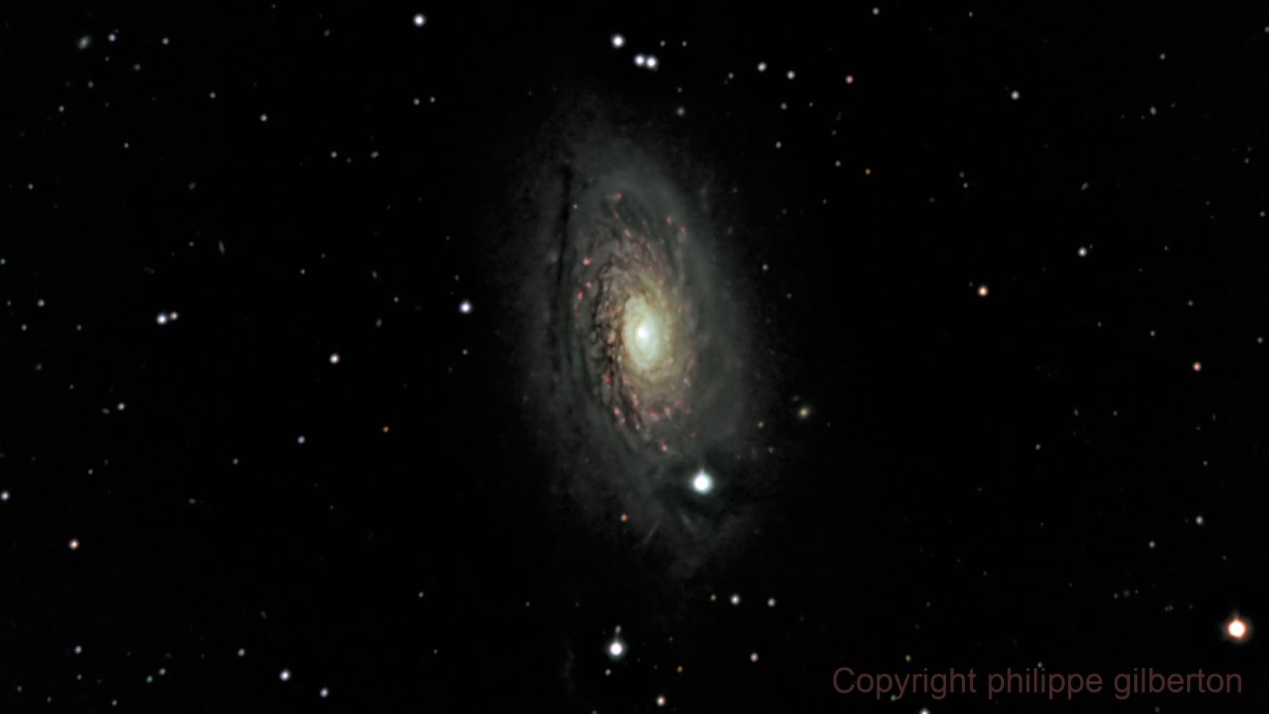 m 63 (sunflower galaxy),                                *philippe Gilberton