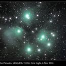 M45, The Pleiades, ST80+FR+TOAG First Light, 6 Nov 2016,                                David Dearden