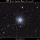 M13 LRGB - Great Gobular Cluster in Hercules,                                Brice Blanc