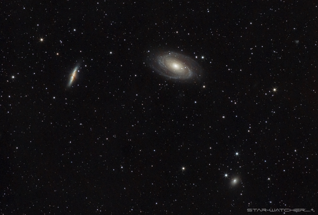 M81 Bode's Galaxy and M82,                                star-watcher.ch