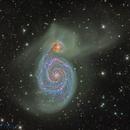 """Messier 51 by RCOS 14.5"""" @ DSW,                                Miles Zhou"""