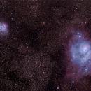 Lagoon nebula and Trifid nebula (M8 & M20),                                Dan Bryan