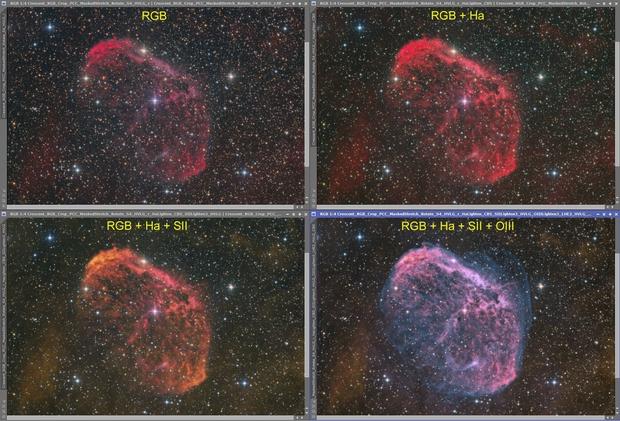 Crescent Nebula Processing Sequence,                                KuriousGeorge