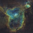 IC1805 Heart Nebula SHO Processing Study,                                Ben Koltenbah