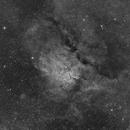 NGC6823 & NGC6820 en Halpha,                                Georges