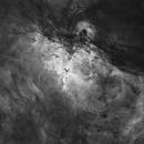 M16 la nébuleuse de l'Aigle en Ha,                                Jean-François Douroux