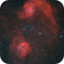 IC410 and IC405 - The Tadpoles and the Flaming Star,                                SergeyGN