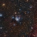 NGC 7129 - The Rosebud Nebula (HaLRGB),                                Frank Breslawski