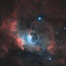Hot Air Balloon in Space-  Bubble Nebula HOO,                                Chris R White