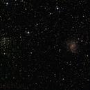 NGC6946 - Feuerwerksgalaxie, NGC6939 - Offener Sternhaufen,                                Christoph Klaschus