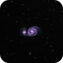 "M51 Whirlpool Galaxy - 4"" Refractor,                                David Kennedy"